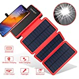 POWOBEST Chargeur Solaire Batterie Externe 20000mAh Power Bank Portable Étanche avec...