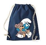 TRVPPY Baumwoll Turnbeutel Sportbeutel Modell Baby Schlumpf Farbe Navyblau