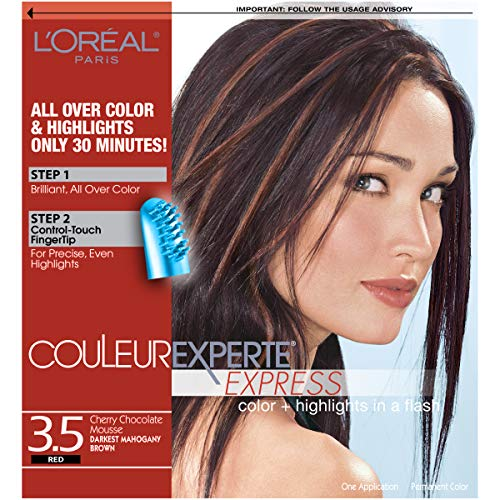 L'Oreal Paris Couleur Experte 2-Step Home Hair Color and Highlights Kit, Chocolate Mousse