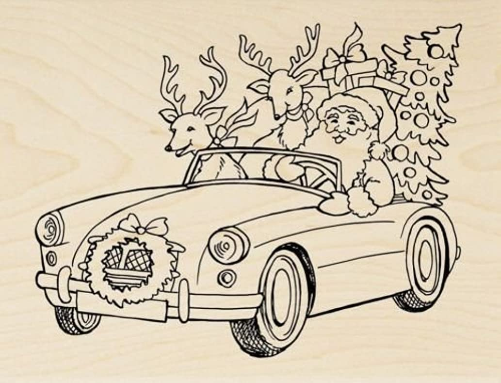 Santa Cruising Wood Mounted Rubber Stamp $279