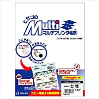 ヒサゴ マルチプリンタ帳票 A4白紙タテ2面 (100枚) BP2073