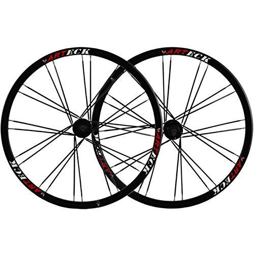 Accesorio de bicicleta de ejes de liberación rápid Rueda de ruedas de bicicleta 26 pulgadas MTB Freno de disco Rueda de bicicleta 24 Hablado para 7-10 Cassette de velocidad Flywheel QR 2342G Bicicleta
