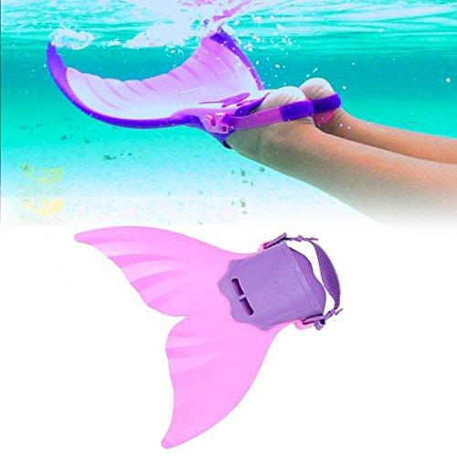 Soviton Schwimmflossen für Kinder, verstellbar, Meerjungfrau-Training, für Kinder, Rosa