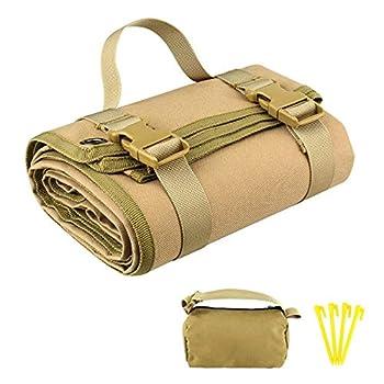 Tapis de tir rembourré pour l'extérieur - Avec 4 clous de fond et 1 sac de rangement - Tapis de pique-nique épais étanche - Convient pour l'entraînement.