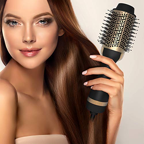 Decorus One Step Hair Dryer Brush - Salon Grade Hair Styling Blow Dryer, Volumizer, and Hair Straightener - Ergonomic Volumizing Hot Air Dry Brush for All Hair Types - Detangling Drying Blower Brush
