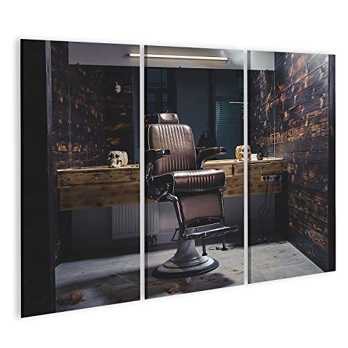 Cuadro en Lienzo Una Elegante Silla de barbero de Estilo Antiguo Cuadros Modernos Decoracion Impresión Salon
