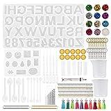 ZJL220 1 juego de resina epoxi con forma de alfabeto con número de llave, colgante de silicona fundida para manualidades, joyas, llavero, fabricación de herramientas