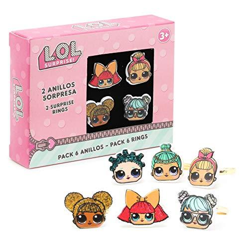 L.O.L. Surprise ! Packung Mit 6 Ringen Für Mädchen Mit Ihren Lieblings Lol Puppen | Verschiedene...