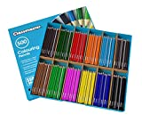 Classmaster Class Box Colouring Pencils – Standard Full-Size, Pre-Sharpened Wooden Set – Assorted Colours...