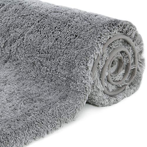 Lifewit 80 x 50 cm Badematte Badvorleger Waschbar Badeteppich Weich Duschvorleger rutschfest Antibakteriell aus Mikrofaser