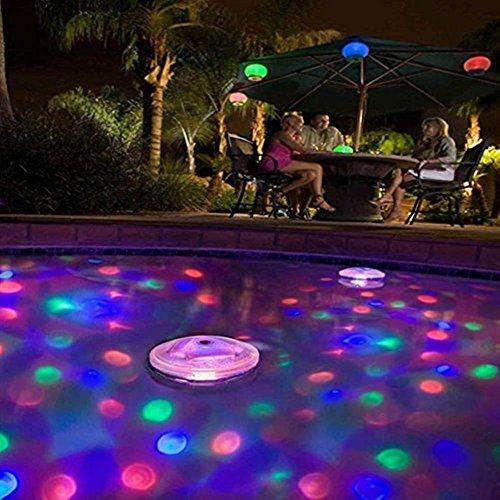 MMilelo LED Unterwasser Disco Strahler Teichbeleuchtung Unterwasserleuchte Unterwasserlicht Unterwasserbeleuchtung Unterwasserlicht Mehrfarbig LED Lampe für Lichtshow Teich Pool Spa Whirlpool