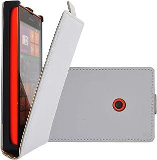 COOVY® Skal till Nokia Lumia 520/521 / 525 smal flip fodral, hölje skyddsskal + skärmskydd   färggrå