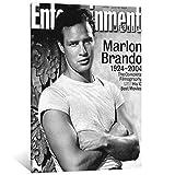 FINDEMO Marlon Brando Poster, dekoratives Gemälde,