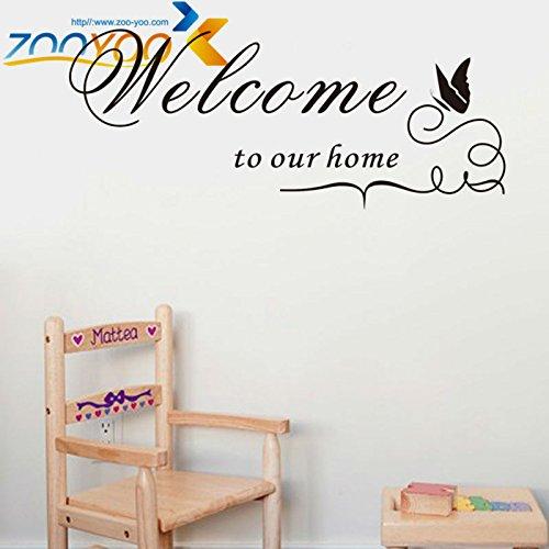SUNYU Ebay Palabra Letras Vinilo Extraíble Etiqueta de la Pared Calcomanía Citas Decorativas Decoración del hogar Bienvenido a Nuestro hogar