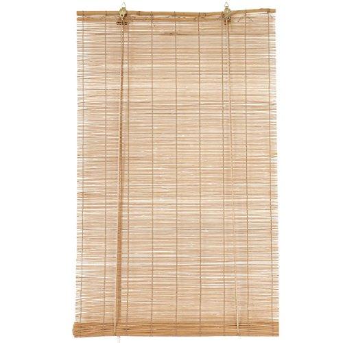 Eminza - Tapparelle avvolgibili a Bacchette, in bambù, 90 x 180 cm, Colore Naturale.