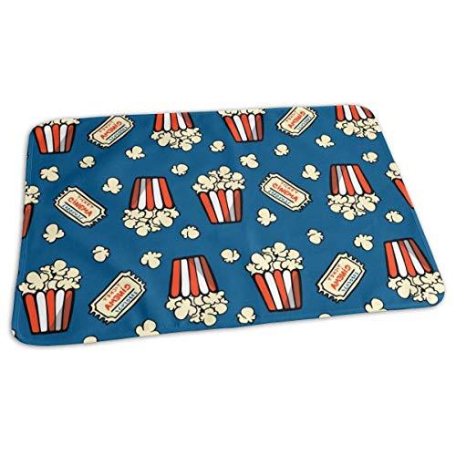 Popcorn and Movie Ticket Bébé Réutilisable Matelas à Langer Portable Tapis à Langer de Voyage 27,5 x 19,7 pouces