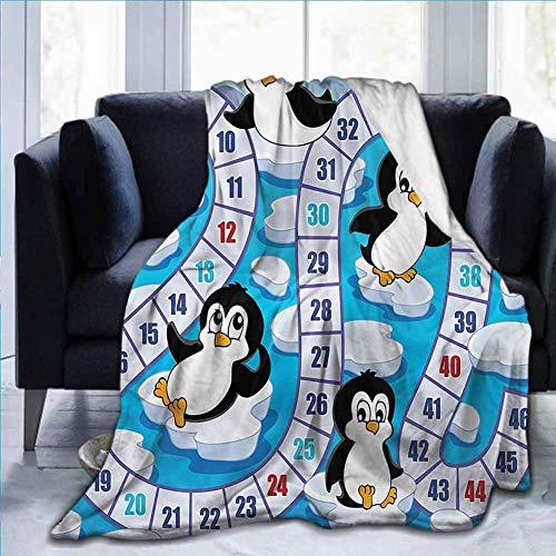 KENDIA Flanell Super Soft Throw Blanket Brettspiel, Cute Penguins Antarctica, für Kids Boys Girls