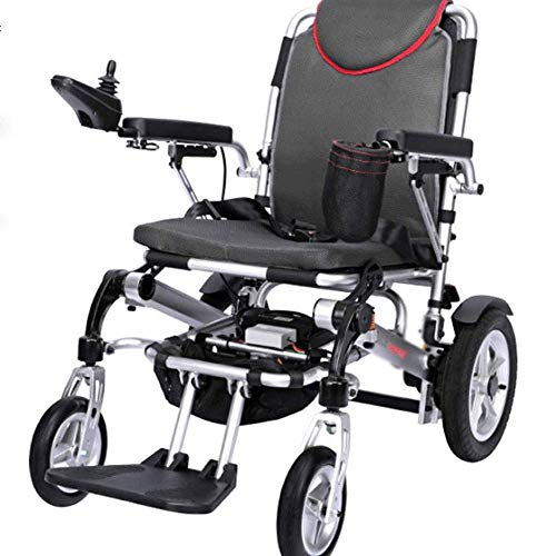 Wheelchair - Smart Electric Wheelchair Folding Lightweight Elderly Scooter Elderly Disabled Lithium Battery, Size: 100 90 63cm Wheelchair