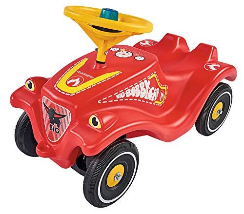 BIG-Bobby-Car-Classic Feuerwehr - Kinderfahrzeug mit Aufklebern in Feuerwehr Design, für Jungen und Mädchen, belastbar bis zu 50 kg, Rutschfahrzeug für Kinder ab 1 Jahr