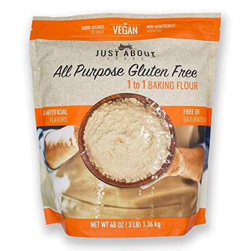 Just About Foods All Purpose Gluten Free Flour Vegan 1 to 1 Baking Flour 3lb