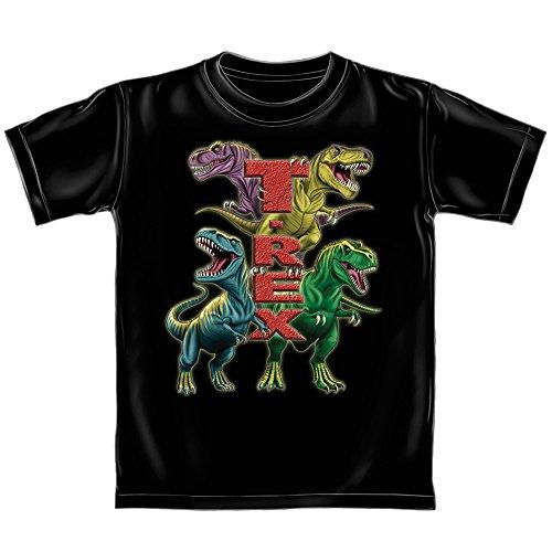 T-Rex Youth Tee Shirt (Glow in The Dark) (Kids Small) Black