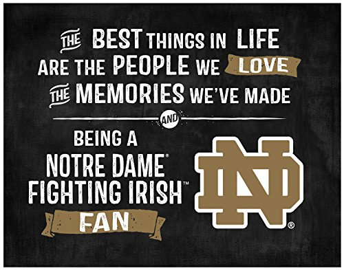 "KH Sports Fan 9.75""X7.75"" Notre Dame Fighting Irish Best Things Collage Light Box Insert"