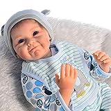 ZELY Lebensechte 22 Zoll 55 cm Spielzeug Geburtstag Gifts Baby Dolls Reborn Junge Puppe...