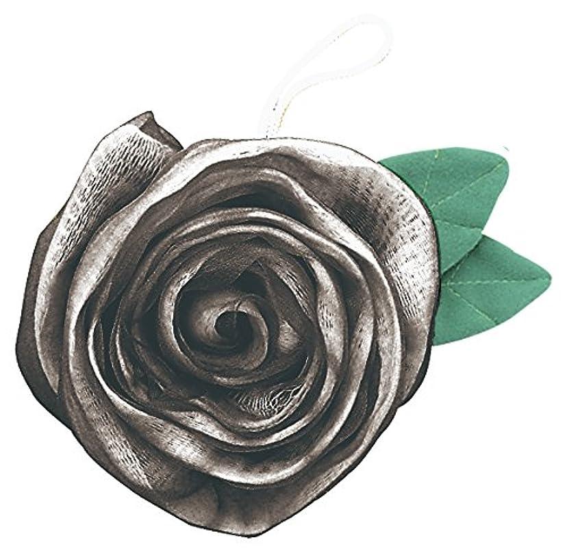 お風呂を持っているバリア促すフジインターナショナル エレガントローズ 薔薇のボディスポンジ シルバー BS-S