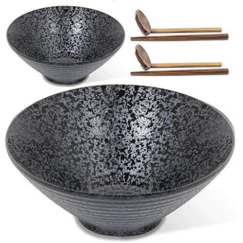Ceramic Sichuan Ramen Noodle Soup Bowl, 2 Sets.