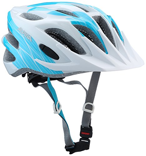 ALPINA FB JR. 2.0 Fahrradhelm, Kinder, white cyan, 50-55