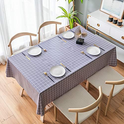 LIUJIU Mantel de vinilo decorativo mantel de PVC apto para cocina, interior y exterior, 120 x 180 cm