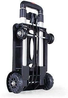 H.Slay Plegable Carro de Transporte, Multifuncional Carretilla de Mano Aluminio con un cordón elástico Gran Capacidad Equipaje, Personal, Viajes,Auto, mudanza y Uso de Oficina