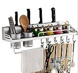 Utensil Rack, Space Aluminium Mehrzweck Organizer Küche Regal Rack Pan Pot Rack, Gewürzregal, Löffel Kelle Aufhänger, Messerblock, Handtuchhalter ( Größe : 40CM )