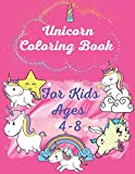 Unicorn coloring book for kids ages 4-8: A children's coloring book and activity pages for 4-8 year old kids ,unicorn notebook ,mermaid coloring book ... ,Rainbows ,coloring books for kids ages 4-8
