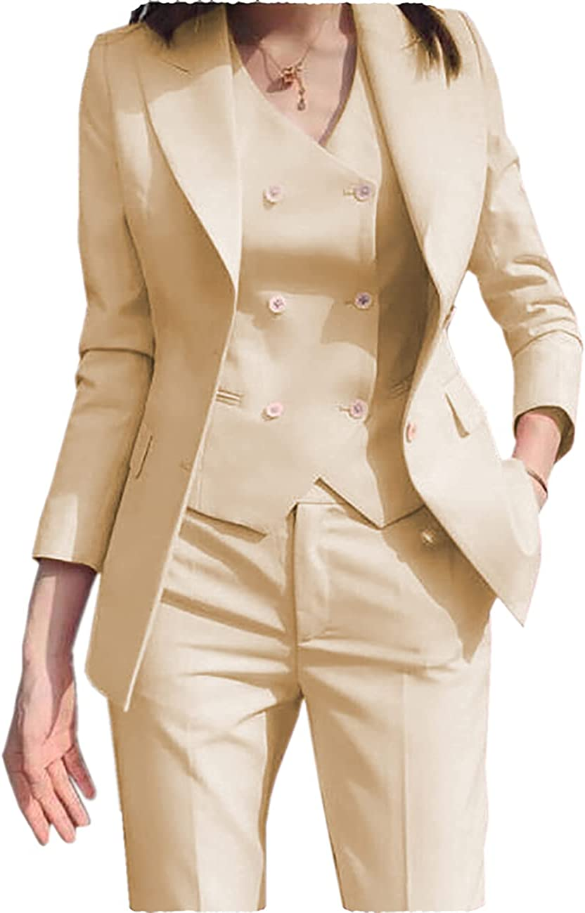 Max 86% OFF ANSHUHA Women's 3 Piece Max 64% OFF Suits Casual Suit S Office Lady Business