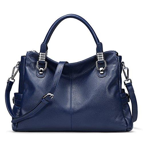 S-ZONE Women Genuine Leather Handbag Shoulder Purse Satchel Tote Crossbody Bag