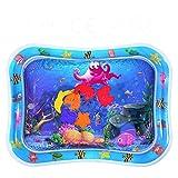 Crislove Wassermatte Baby, Wasserspielmatte BPA-frei, Baby Spielzeug 3 6 9 Monate, Baby Aufblasbare Spielmatte für Baby Spaßaktivitäten (76 * 60cm)