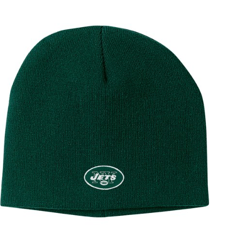 NFL Men's End Zone Uncuffed Knit Hat - K173Z (New York Jets, One Size Fits All)