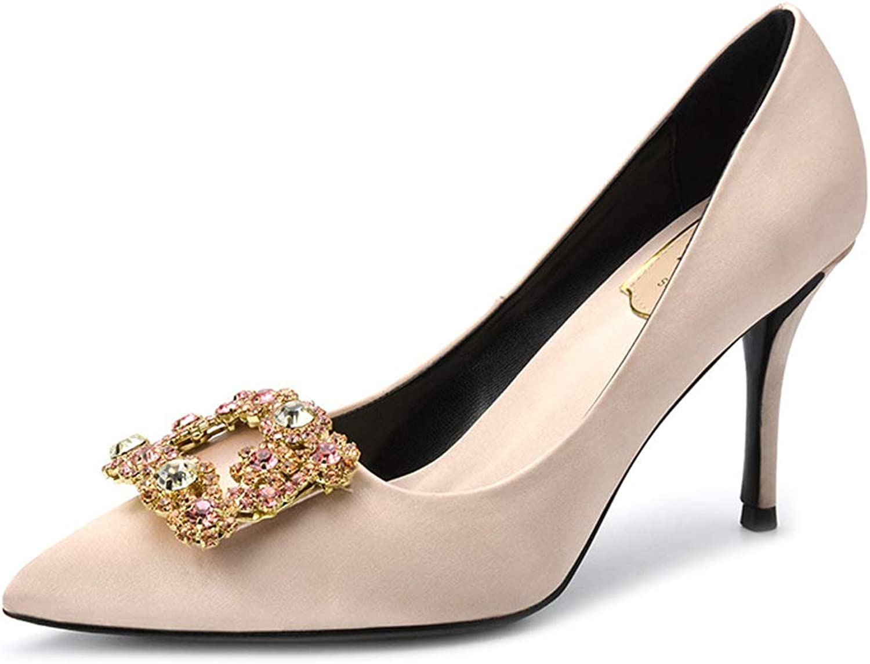 LHWAN Hlg frauen pumpt strass seidensatin high heels schuhe sexy dünne spitze party hochzeit schuhe  | Sale Online  | Eleganter Stil  | Genial Und Praktisch