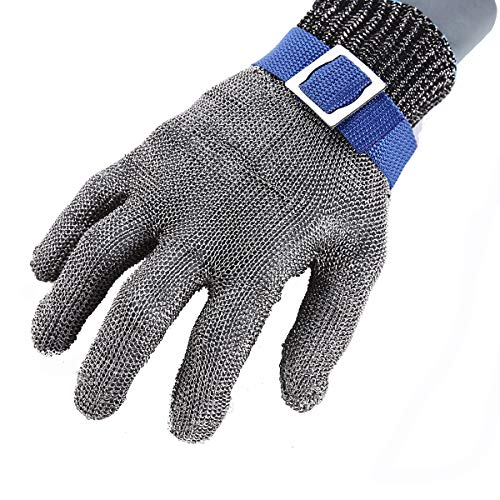 Stainless Steel Mesh Metal Wire Gloves Cut Resistant Level 9 Durable Rustproof Butcher Glove Kitchen Cutting Heavy Protection MEDIUM