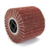 Non-Woven Buffing Abrasive Flap Wheel,Interleaf Stripping Flap Wheel Drum Wheel Finishing and Polishing Rotary Tool for Paint and Rust Removal (Red)