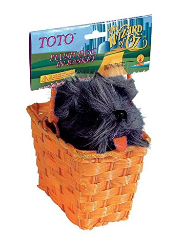 Rubies Wizard of Oz Toto Plush in The Basket, 75th Anniversary Edition