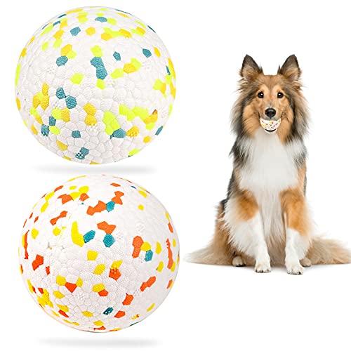 Hundeball,Hundespielzeug Ball,hundespielzeug unzerstörbar,hundespielzeug Intelligenz, Hundespielzeug Ø 7.5cm,Ideal für Große & Kleine Hunde-2 Stück