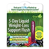 Irwin Naturals 5-Day Liquid Weight-Loss Support Flush Natural, Fast-Acting Cleanse - Digestive Support with Super Fruit Blend - Mixed Berry Flavor - 10 Liquid Tubes