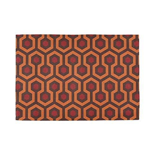 Juego de 4 manteles individuales de Fedso con textura de alfombra brillante para mesa de comedor, lavables, de PVC, antideslizantes, resistentes al calor (12 x 18 pulgadas)