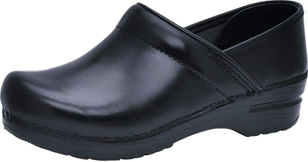 Dansko Professional Stapled Clog Unisex Nursing Shoe Black Cabrio