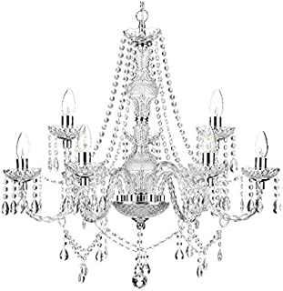 Saint Mossi Modern Contemporary Elegant Crystal Glass Chandelier Pendant Ceiling Lighting Fixture - 9 Lights
