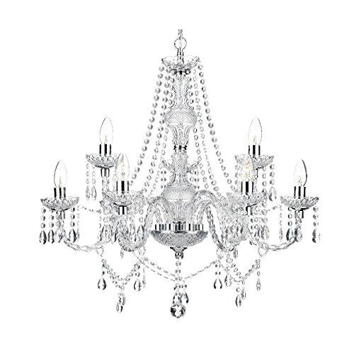 Saint Mossi Modern Contemporary Elegant Crystal Glass Chandelier Pendant Ceiling Lighting Fixture - 9 Lights