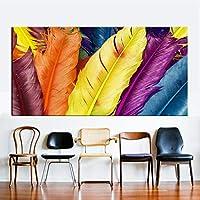 """現代抽象絵画カラフルな動物の羽のリビングルームの寝室のポスタープリント壁アート家の装飾23.6"""" x47.2""""(60x120cm)1pcsフレームなし"""