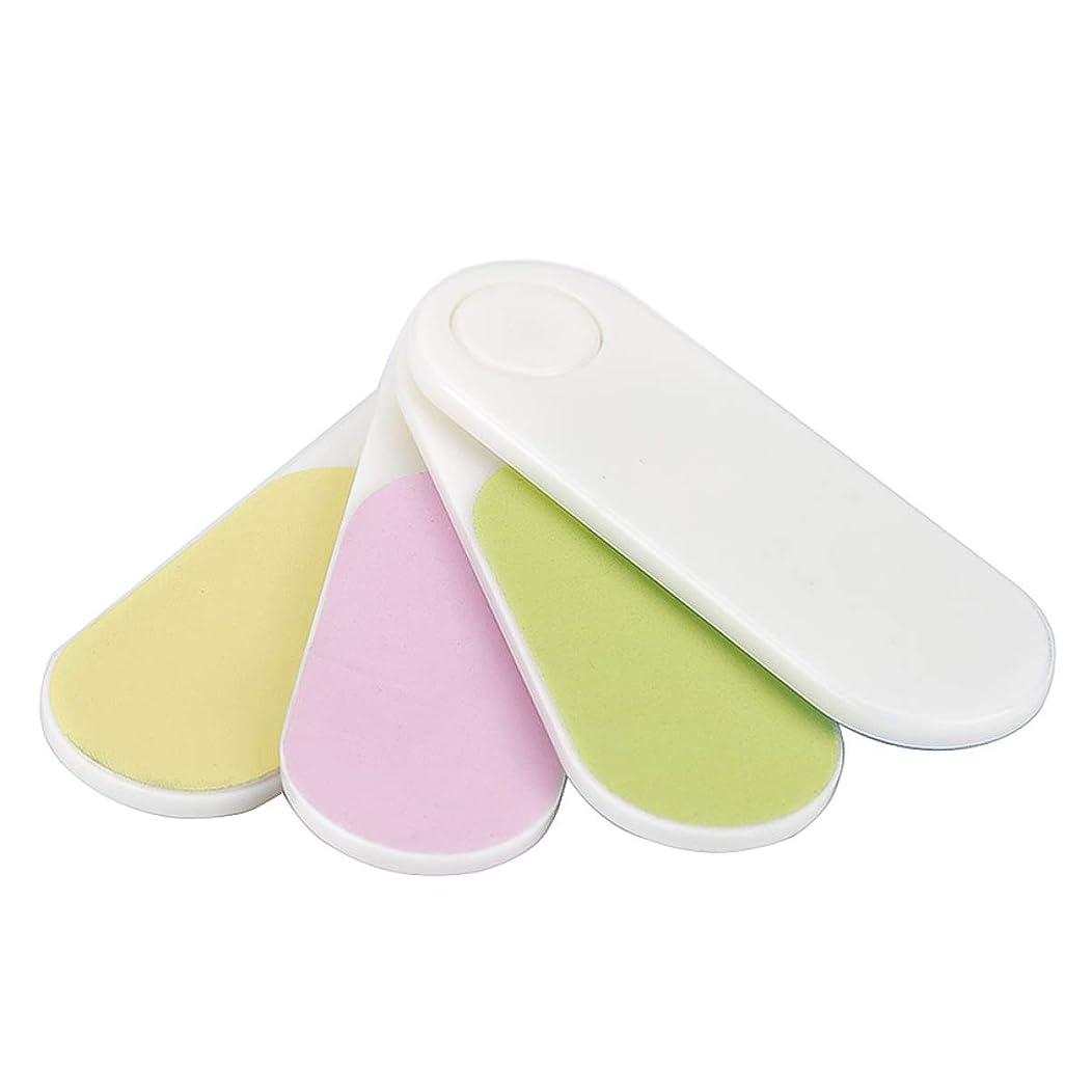 ロバグラス詩人Yoshilimen 優れた品質携帯用のミニファン形のネイルバッファスムーズな便利な旅行ホーム釘芸術ツール(None Color random)
